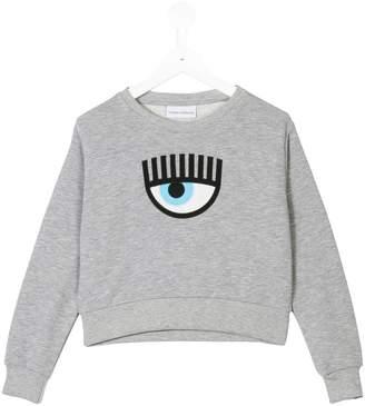 Chiara Ferragni Kids eye embroidery sweatshirt