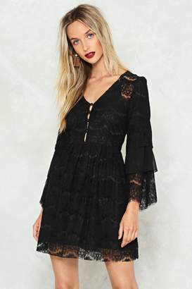 Nasty Gal Stay the Night Lace Dress