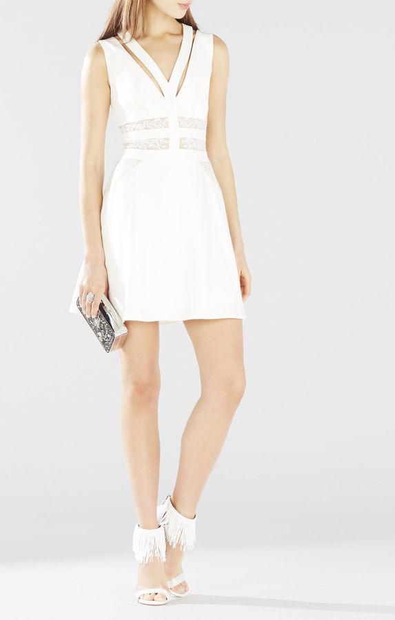 BCBGMAXAZRIAKarleigh Block Embroidered Dress