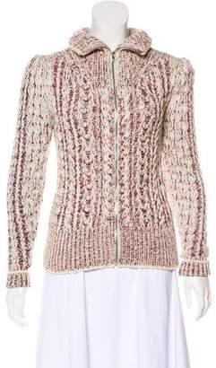 Isabel Marant Wool Turtleneck Zip-Up Cardigan
