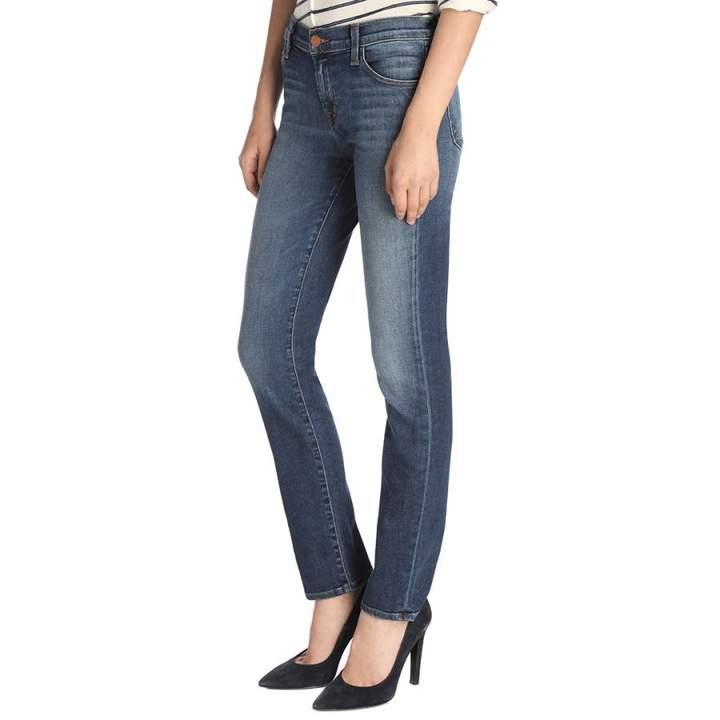 Idolize Navy Maude Cigarette Stretch Jeans