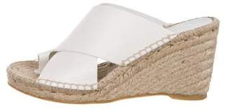 Vince Leather Espadrille Wedges