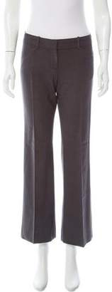 Theory Wool Low-Rise Wide-Leg Pants
