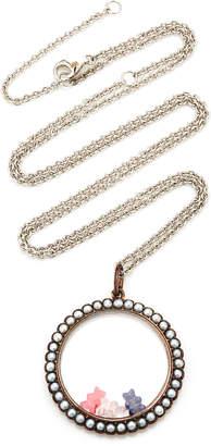 Lauren X Khoo Gummy Bear 18K White Gold, Pearl and Multi-Stone Necklace