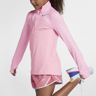 Nike Dri-FIT Element Big Kids' (Girls') Half-Zip Running Top