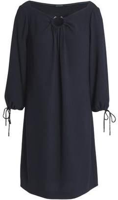 Elie Tahari Gathered Crepe Mini Dress