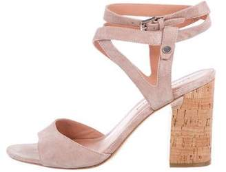 Sigerson Morrison Suede Ankle Strap Sandals