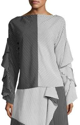 Robert Rodriguez Striped Colorblock Top
