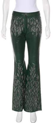 Gucci by Tom Ford Leather Mid-Rise Pants