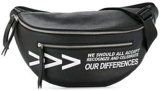 Ports V slogan zipped belt bag