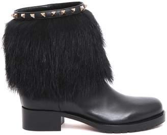 Valentino Rockstud Winter Boots