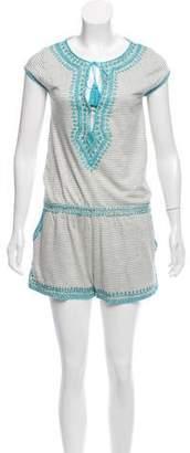 Calypso Linen Embroidered Romper