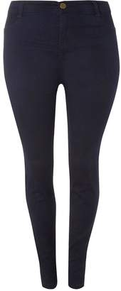 Dorothy Perkins Womens Dp Curve Plus Size Indigo Fly Front Jeggings