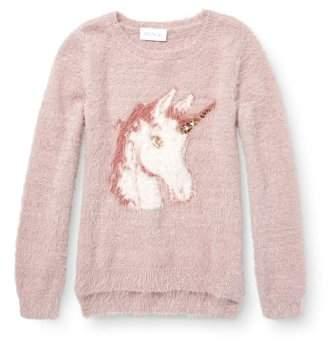 Children's Place The Unicorn Eyelash Pullover Sweater