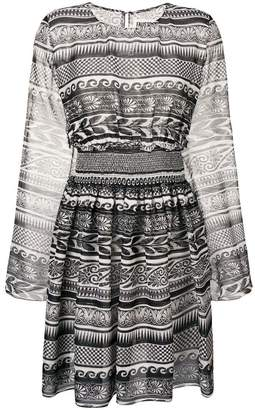 Fausto Puglisi geometric pattern dress