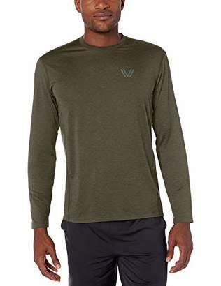 Amazon Brand - Peak Velocity Men's Tech-Stretch Long Sleeve Quick-Dry Loose-Fit T-Shirt