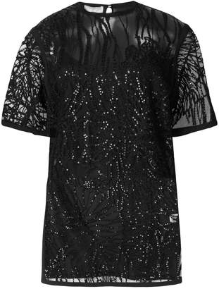 Elie Saab embroidered sequin blouse