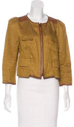 Tibi Cropped Linen Jacket