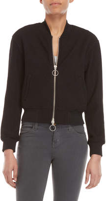 KENDALL + KYLIE O-Ring Ribbed Track Jacket