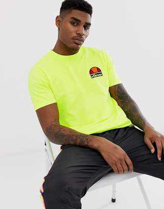 Ellesse Cuba t-shirt with back print in yellow