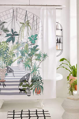 Urban Outfitters Deny Designs Anyuka For Greenhouse Illustration Shower Curtain