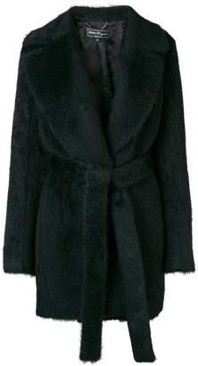 Salvatore Ferragamo fur belted coat
