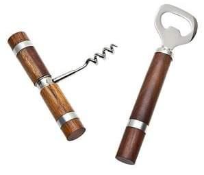 Godinger Two Piece Cork and Bottle Opener Set