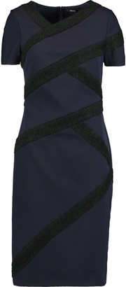 Raoul Wool-blend bouclé-paneled crepe dress $155 thestylecure.com