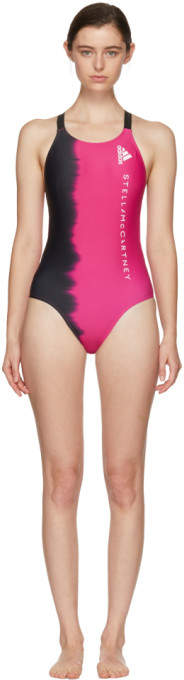 Pink and Black Train Swimsuit