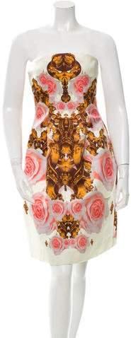 Josh Goot Silk Floral Print Dress