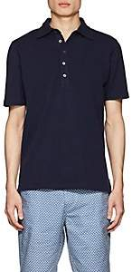 Piattelli MEN'S COTTON PIQUÉ POLO SHIRT - NAVY SIZE S