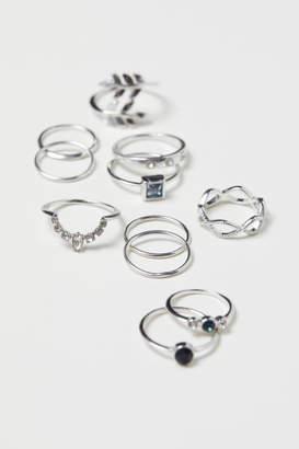 H&M 11-pack Rings - Silver