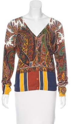 Etro Patterned Button-Up Cardigan