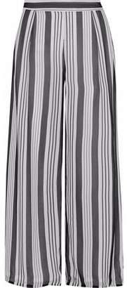 Zimmermann Cropped Striped Silk-chiffon Culottes
