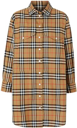Burberry oversized Vintage check shirt