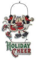 Disney Santa Mouse Metal Holiday Sign