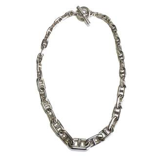 Hermes Chaine d'Ancre Silver Silver Necklace