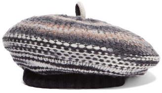 Missoni Crochet-knit Wool-blend Beret - Anthracite