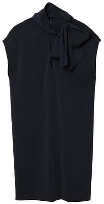 MANGO Bow neck dress