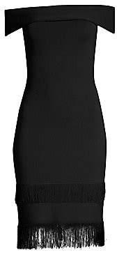 Sachin + Babi Sachin& Babi Sachin& Babi Women's Serena Off-The-Shoulder Fringe Sheath Dress