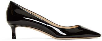 Jimmy Choo SSENSE Exclusive Black Patent Romy 40 Heels