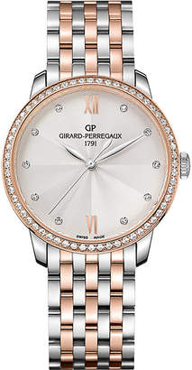 Girard Perregaux Girard-Perregaux 49523D56A171-56A 1966 stainless steel, pink gold and diamond watch