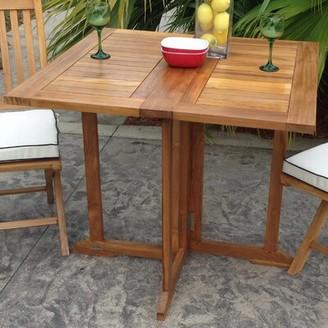 Bayou Breeze Warren Folding Solid Wood Dining Table Bayou Breeze