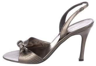 Salvatore Ferragamo Leather Slingback Sandals