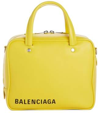 Balenciaga Extra Small Square Leather Satchel