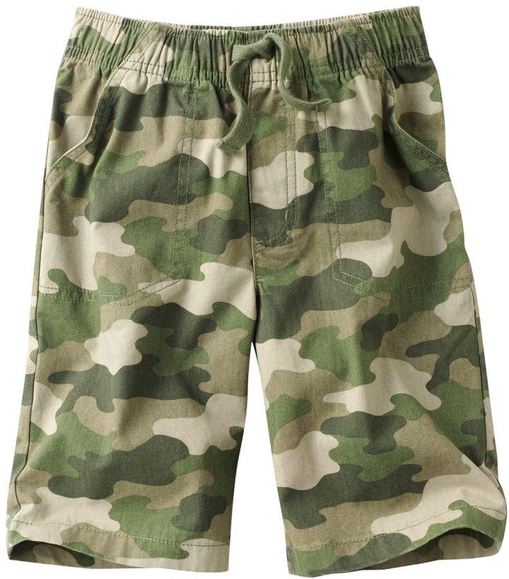 Camo Jumping beans ® canvas shorts - boys 4-7x