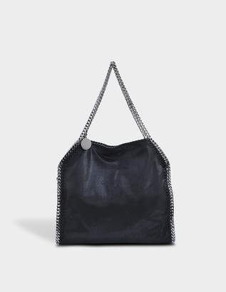 Stella McCartney Shaggy Deer Falabella Medium Bag in Black Eco Leather