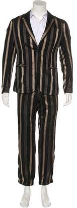 Alexander McQueen Silk & Wool Striped Suit