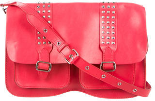 Rebecca Minkoff Studded Leather Satchel $145 thestylecure.com