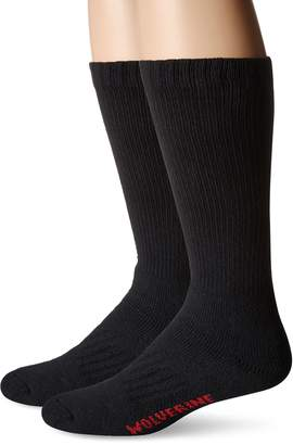 Wolverine Men's 2 Pack Steel Toe Cotton Mid Calf Sock